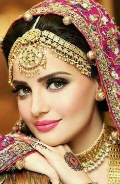 Beautiful Girl Image, Beautiful Bride, Madhuri Dixit, Bridal Looks, Indian Bridal, Bridal Makeup, Sari, Make Up, Jewels