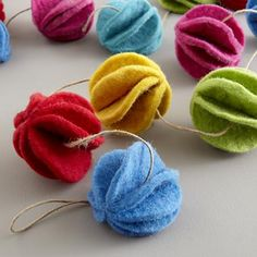 Rainbow Felt Garland makes a great accent for the holidays or in a playroom.