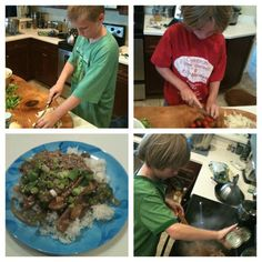 Little helpers #kidsinthekitchen kicking off #FathersDay weekend the right way! #stirfry #recipe by Kelli-adventurezinchildrearing, via Flickr