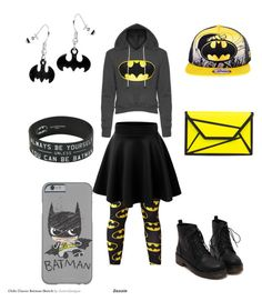 """Batgirl"" by appleface80 ❤ liked on Polyvore featuring interior, interiors, interior design, home, home decor and interior decorating"