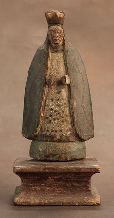 Antique Saint, Mother Mary Inmaculada Concepcion no. II, c 1800-50, Philippines, Spanish Colonial Santos