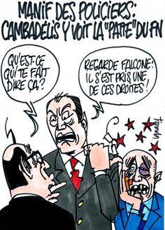 """Ignace - Manif des policiers : Cambadélis y voit la """"patte"""" du FN"""