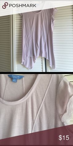 Vera wang shirt Never worn.  Super flattering fit it's just not my color.  Lots of detail with several different fabrics. Vera Wang Tops Tees - Short Sleeve