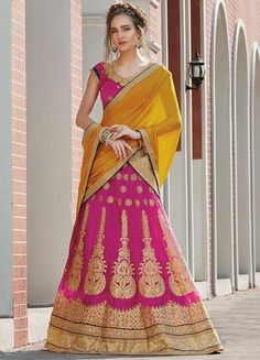 Pink Netted Indian Bridal Buy Lehengas Online In India ,Indian Dresses - 1