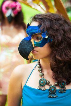 Hyacinth Macaw RIO Masquerade Mask  PRIMAL ARTISTRY HAWAII Warrior Outfit, Bird Costume, Diy Costumes, Costume Ideas, Sports Day, Diy Mask, Felt Toys, Handmade Clothes, Samba