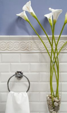 Periwinkle and Subway Tile