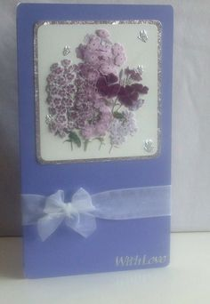 Purple Mother`s Day Card by Dees Designs