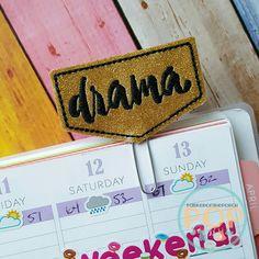 Digital Download- Drama  Planner Clip