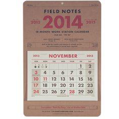 2014 18-Month Work Station Calendar | Hedgerow General