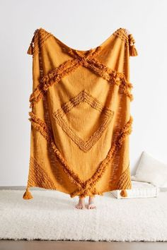 Aden Tufted Throw Blanket | Urban Outfitters