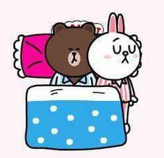 Cute Couple Cartoon, Cute Cartoon Pictures, Cute Couple Art, Cute Love Cartoons, Cute Couples, Cute Pictures, Cony Brown, Brown Bear, Cute Love Gif