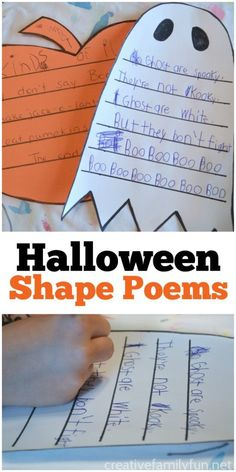 Halloween Shape Poems Writing Activity