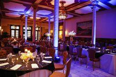 Indigo uplighting at The Driskill Hotel in Austin, TX