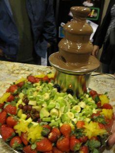 Chocolate fountain 40th Birthday