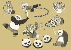 Po and Tigress sketch by kyomitsu.deviantart.com on @DeviantArt