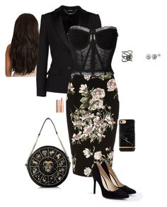 """""""Pencil Skirt"""" by gone-girl ❤ liked on Polyvore featuring Alexander McQueen, River Island, Dolce&Gabbana, BERRICLE, JustFab and Eva Fehren"""