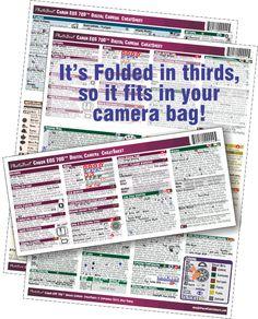 PhotoBert CheatSheet for the Canon EOS 70D Digital SLR Camera