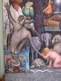Diego Riviera - In 1921, working with the government, he began work on a series of murals, that were located in public buildings