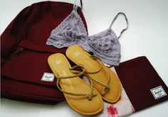 Malvados braided ICON FLORENCE sandals, with a lace lavender bralette, burgundy Hershel backpack and a laptop case  #bikini #bathingsuit #malvados #sandals #flipflops #summer #tan #beach #glow #babes #fitness #gym #fashion #love #sunset #water #pool #local #model #swim #beach #ocean #fun #colour #lspace #maaji #vitamina #friends #selfie #hot #weather #sand #shells #pineapple #sunglasses #flowers #inspo #happy #young #motivation #fit #photoshoot #flats #swimwear