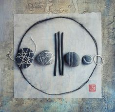 mimicry by wild goose chase,Artist Study , circles , Art Featuring Circles… Collages, Rock And Pebbles, Sticks And Stones, Still Life Photography, Photography Tips, Environmental Art, Land Art, Stone Art, Rock Art