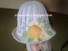 Chapéu com Aplicação Floral