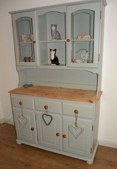 pine welsh dresser painted farrow and ball light blue 22