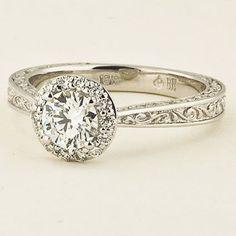 Vintage Halo Engagement Ring | Contessa | Brilliant Earth