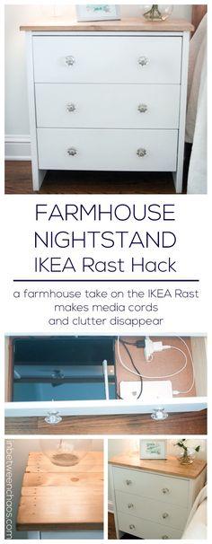 IKEA Rast Hack Media Friendly Nightstand   inbetweenchaos.com - #decoracion #homedecor #muebles
