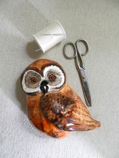 Vintage String Holder OWL
