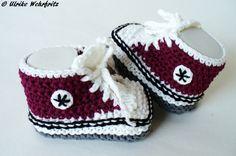 Babyschuhe Babyturnschuhe Sneaker strickliene von strickliene auf DaWanda.com