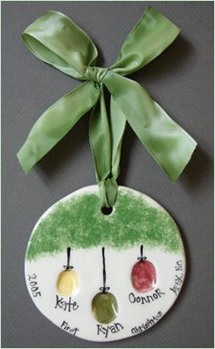 Family Thumbprint Ornament I would like to do this with the grand kids