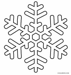 giant snowflakes coloring pages - photo#19