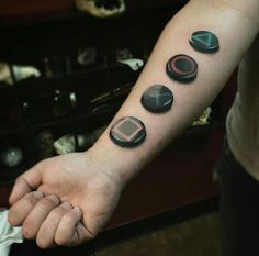 By Ronny James | OH | #Playstation #Tattoo #RealismTattoo #Realism #Joystick #Game #Games