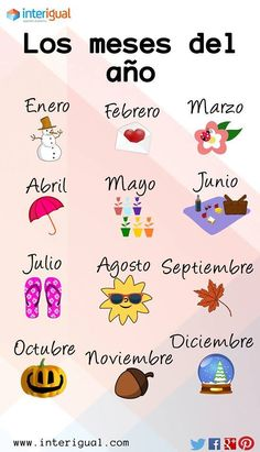 "#learnspanish with #interigual - ""The months of the year"""