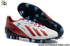 new concept 83998 b36cf Adidas F50 adizero miCoach FG White Dark Red Online Cheap Soccer Shoes, Football  Shoes,