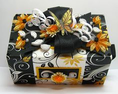 Appel Quilling Garden: Quilled Black and Yellow Soap Box