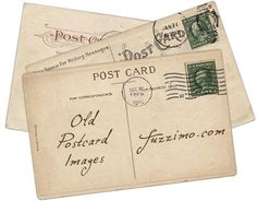 Free Hi-Res Old Postcard Images + Stamps by fuzzimo