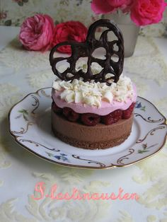 I-Lost in Austen: Raspberry & Chocolate Entremet For 1st Blog Anniversary
