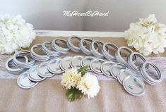 6 Dozen Metal Mason Jar Lids With Rings / Bands, Standard Size Mason Jar Lids, Ball Mason Jars Lids