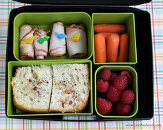 Rosemary bread Laptop Lunches bento by anotherlunch.com, via Flickr