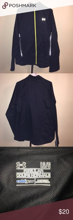 Men's Under Armour cold gear jacket size large. This is a men's Under Armour brand jacket size large. It has been worn a few times and is in good shape. It is black in color. If you have any questions please let me know. Thanks! Under Armour Jackets & Coats Lightweight & Shirt Jackets