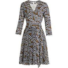 Diane Von Furstenberg Irina dress ($498) via Polyvore featuring dresses, khaki print, flared dresses, day to night dresses, short flared skirt, patterned mini skirt and white mini skirt