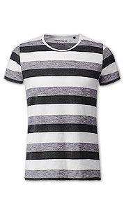 T-shirt in zwart / wit