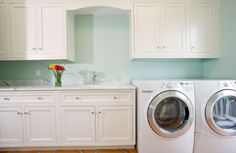 this is the exact layout of my new laundry room.  I want to do these cabinets~ including arch like in my kitchen now.