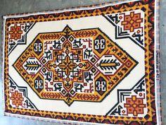 Vintage Latch Hook Rug Tribal Southwestern Print by 6thAndDetroit