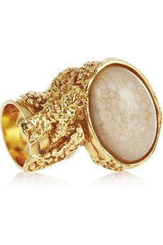 16ebef93d11 Shop for Yves Saint Laurent Arty gold-plated glass ring by Yves Saint  Laurent 2263 at ShopStyle.