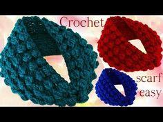 Aprende hacer bufanda infinita con hojas en relieve a Crochet - YouTube