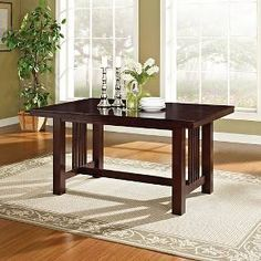 Cappuccino Wood Kitchen Dining Table - Saracina Home, Warm Chocolate Furniture Deals, Bar Furniture, Brown Furniture, Wooden Furniture, Kitchen Furniture, Dining Table In Kitchen, Dining Chairs, Room Kitchen, Dining Sets