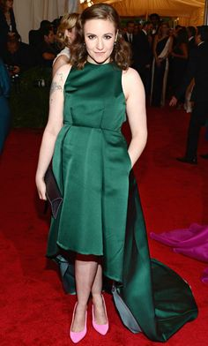 Lena Dunham Stepping out at the 2012 Met Costume Gala in New York City, the Girls creator and star sported a green Wes Gordon design, which ...