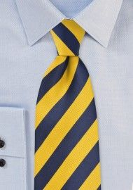 Striped Ties | Striped Neckties | Shop Striped Mens Ties | Cheap-Neckties.com Wide Stripes, Yellow Stripes, Blue Yellow, Dark Blue, Navy Wool Suit, Blue Suit Men, Striped Fabrics, Striped Ties, Cheap Neckties